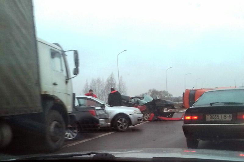 Под Пуховичами произошло массовое ДТП