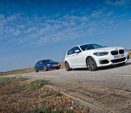 Сравнительный тест автомобилейAudi S3 Sportback и BMW M140i.