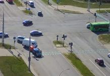В Бресте невнимательный велосипедист врезался в автомобиль