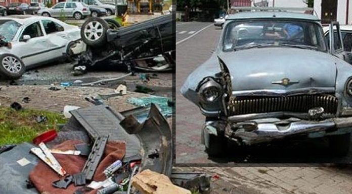 В Волгограде пенсионер на ГАЗ-21 протаранил 12 элитных авто