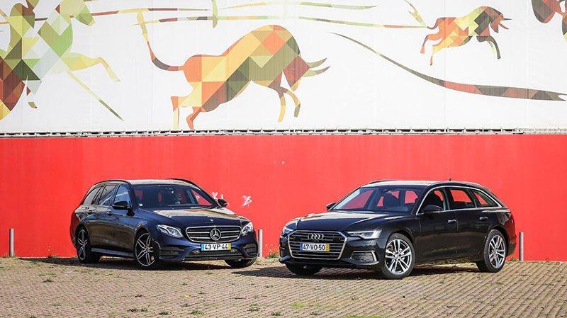 Сравнительный тест автомобилейAudi A6 Avant и Mercedes-Benz E Station
