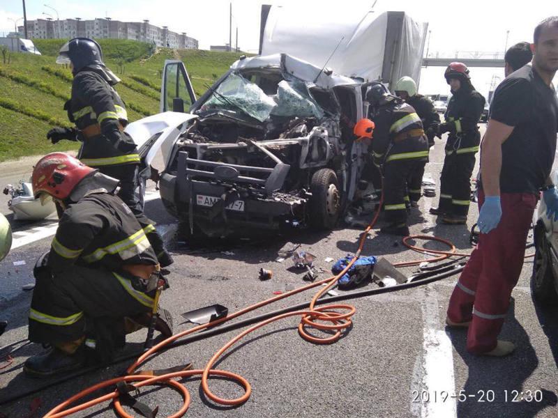 На МКАД столкнулись четыре автомобиля