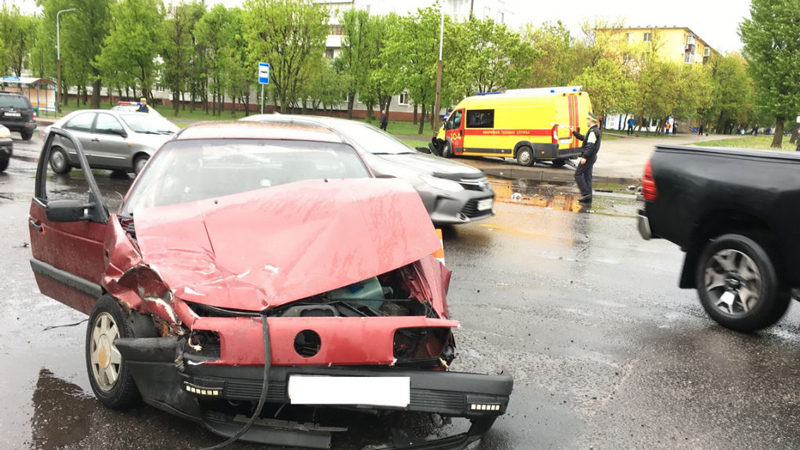 Четыре человека, в том числе 4-летний ребенок, пострадали в ДТП в Могилеве.