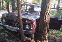 В Узденском районе обнаружен автомобиль с мертвым водителем