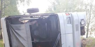 В Могилевской области перевернулся рейсовый автобус