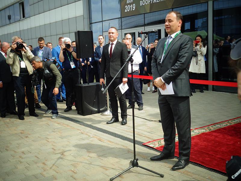 Роман Головченко открывает выставку MILEX-2019 на МКСК Минск-арена