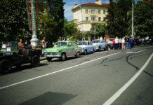 Перед возложением цветов на площади Победы