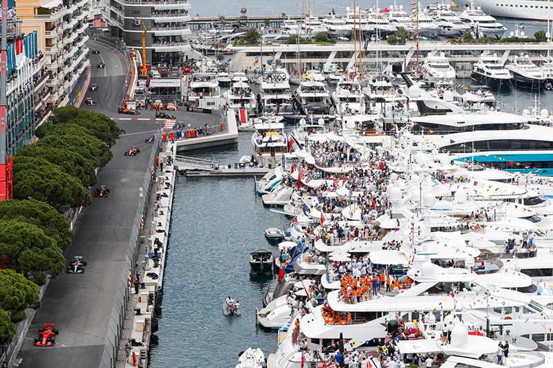 Гран-при Монако-2019: Вид сверху