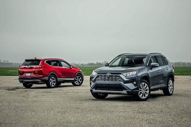 Сравнительный тест автомобилейHonda CR-V и Toyota RAV4