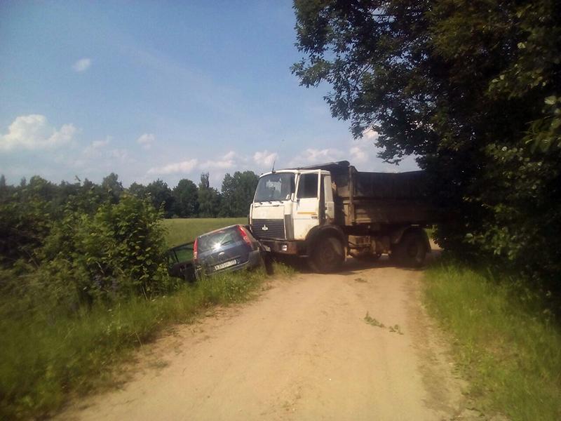 В лобовом столкновении под Браславом пострадали двое детей и женщина