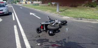 В Полоцке водитель МАЗа не уступил дорогу мотоциклисту