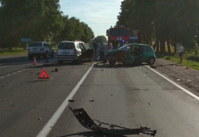 четыре автомобиля столкнулись в Смолевичском районе
