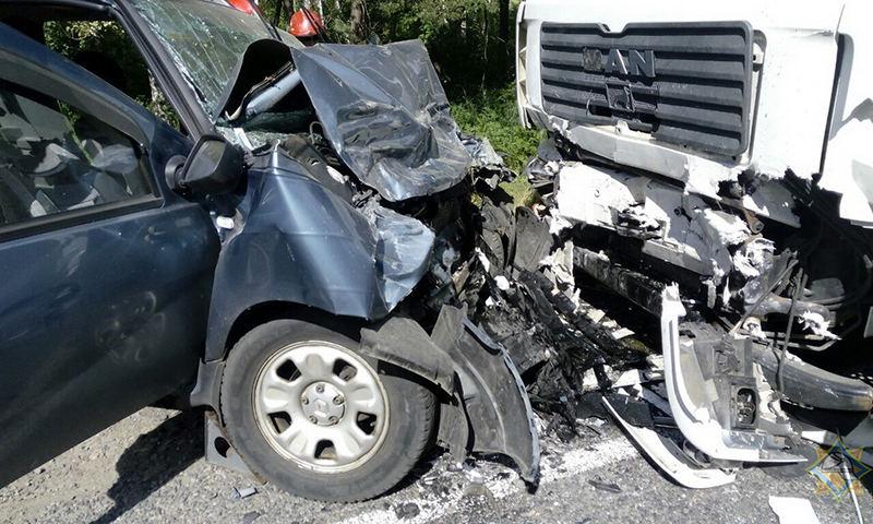 Под Светлогорском произошло лобовое столкновение MAN и Renault