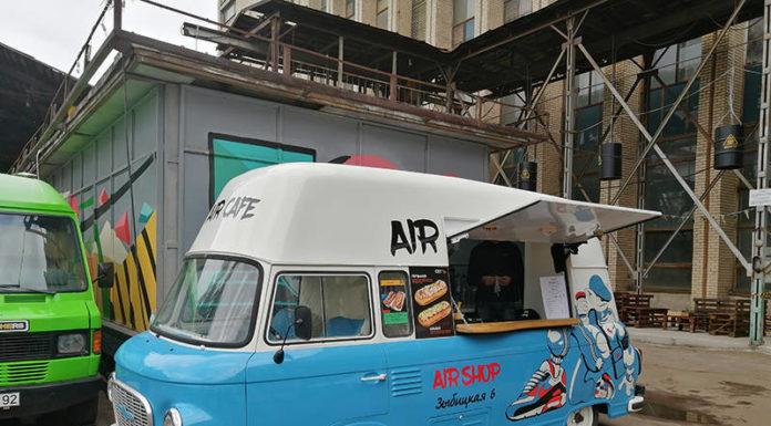 """Микроавтобус Barkas на гастрофестивале """"Песочница"""""""