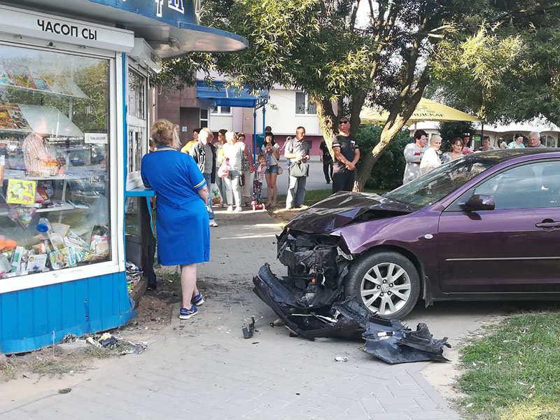 В Гродно на тротуаре сбита девочка