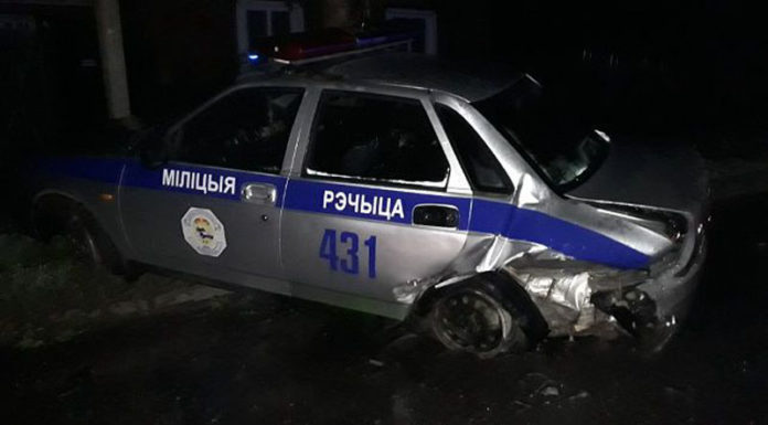 Нетрезвый водитель врезался в автомобиль ГАИ