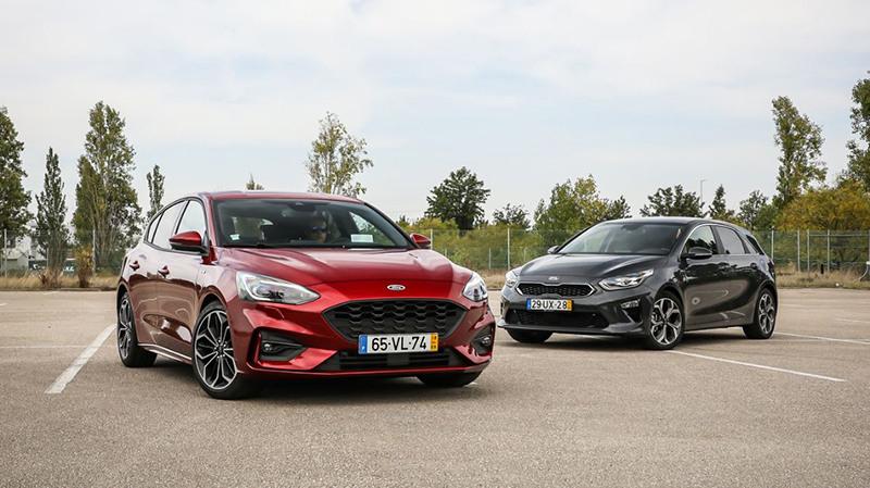 Сравнительный тест автомобилейFord Focus и Kia Ceed