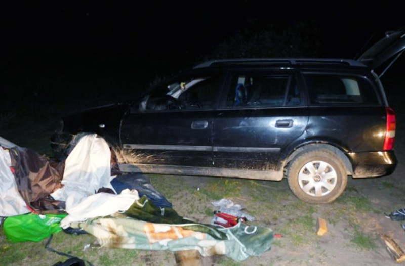 В Ганцевичском районе пьяная женщина наехала на туристическую палатку