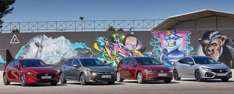 Honda Civic, Mazda 3, Toyota Corolla Volkswagen Golf: кто лучший на поле для «Гольфа»?