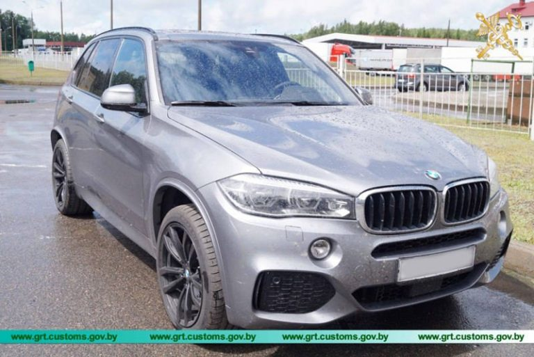 Разыскиваемую Интерполом BMW X5 2018 г.в. задержали гродненские таможенники