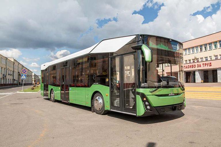 В Минске представили автобус МАЗ третьего поколения