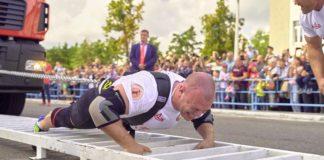 Белорус протянул 15 МАЗов и установил мировой рекорд