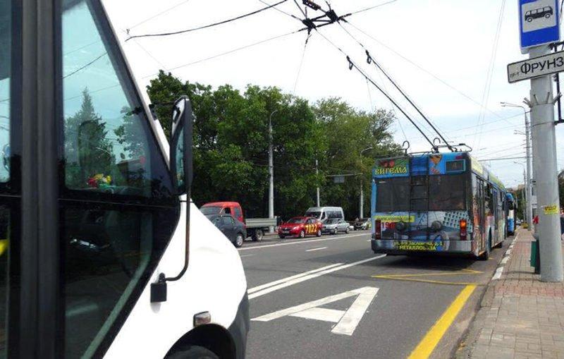 В Витебске появилась выделенная полоса для общественного транспорта