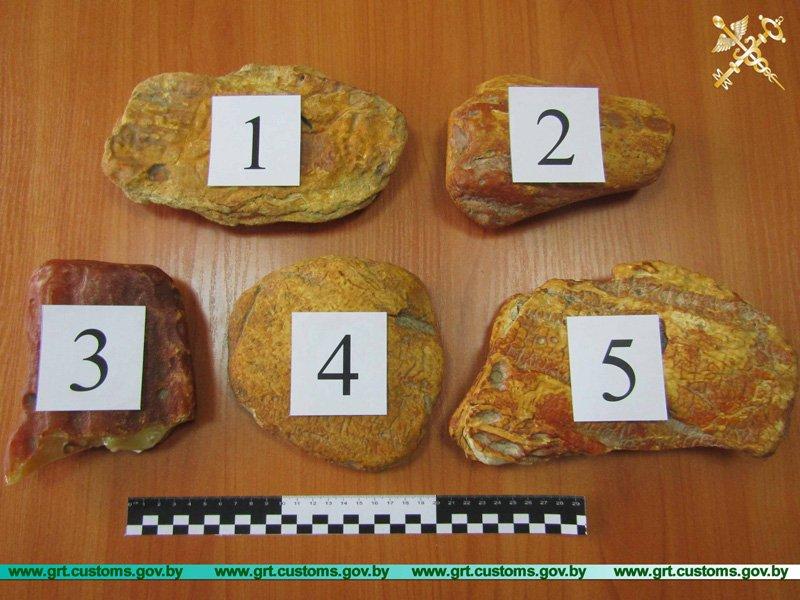 Пресечена попытка незаконного вывоза с территории ЕАЭС необработанного янтаря