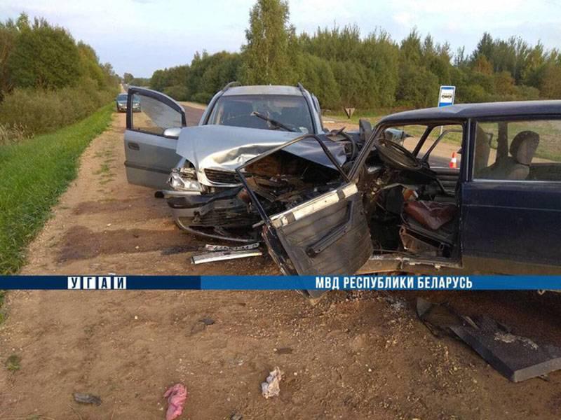 В Толочинском районе в результате лобового столкновения погиб пенсионер