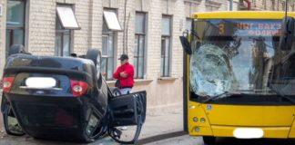 В Гродно перевернулась легковушка