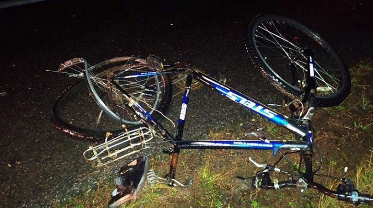 В Шумилинском районе фура насмерть сбила велосипедиста