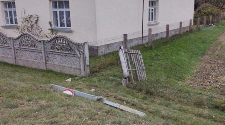 Мужчина угнал ЗИЛ и врезался в бетонный забор