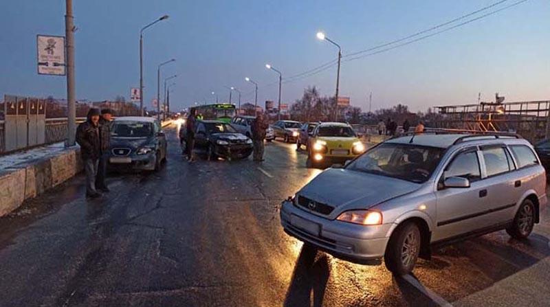 В Жлобине произошло два массовых столкновения автомобилей