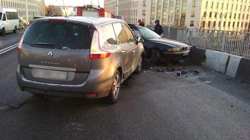 В Минске BMW вылетел на встречку