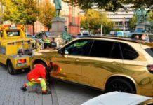 В Германии полиция запретила ездить на золотистом автомобиле