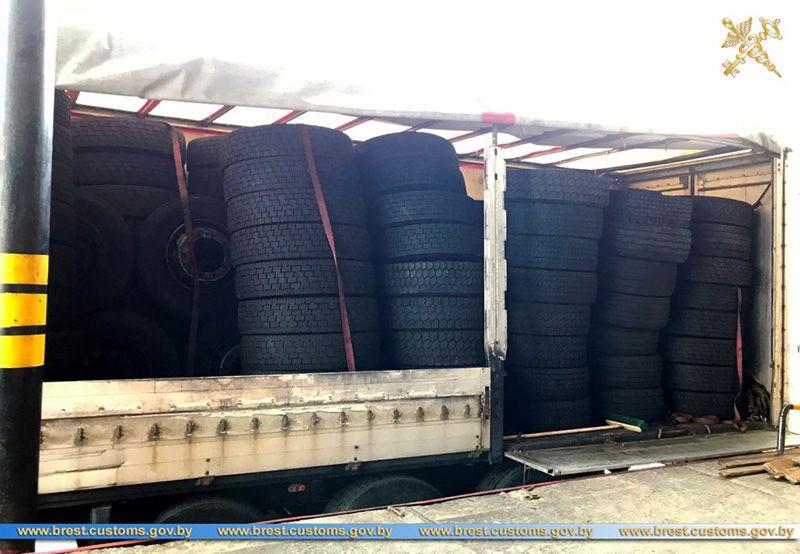 Брестские таможенники раскрыли незаконную схема ввоза б/у шин