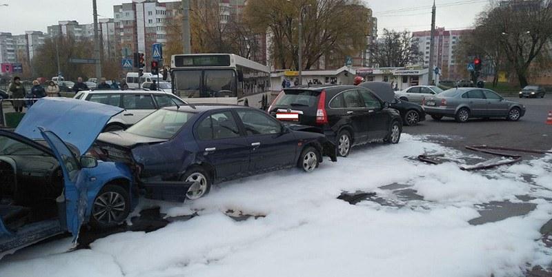 В Бресте произошло ДТП с участием 5 автомобилей