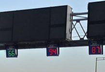 В Киеве появилось табло контроля скорости