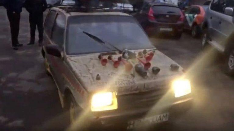 В городе Алматы конфисковали автомобиль на дровах