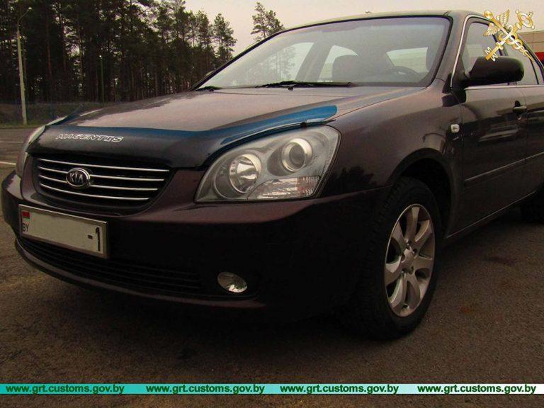 Брестчанин пытался незаконно ввезти на территорию ЕАЭС автомобиль по документам другого автомобиля