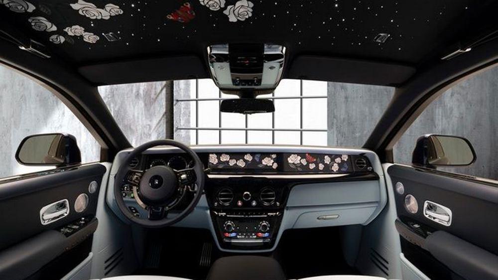 Rolls-Royce Phantom обзавелся эксклюзивной цветочной вышивкой