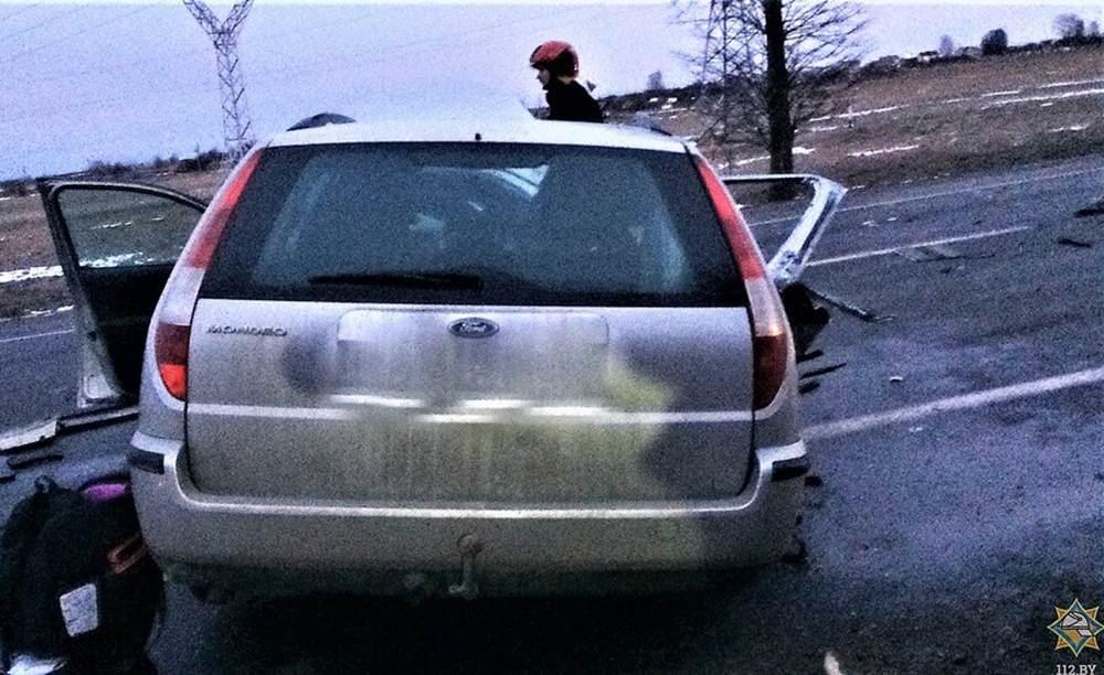 Ford врезался в погрузчик