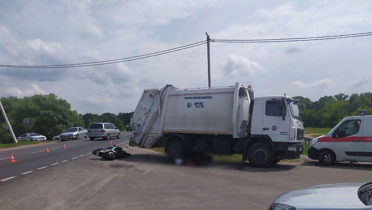 Смертельное ДТП с мусоровозом