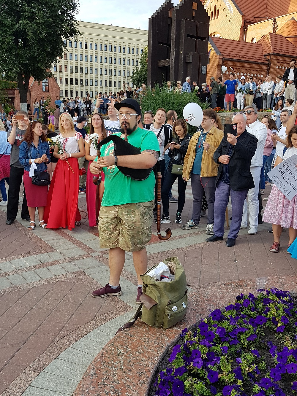 В Минске 14 августа 2020 года прошли мирные протесты