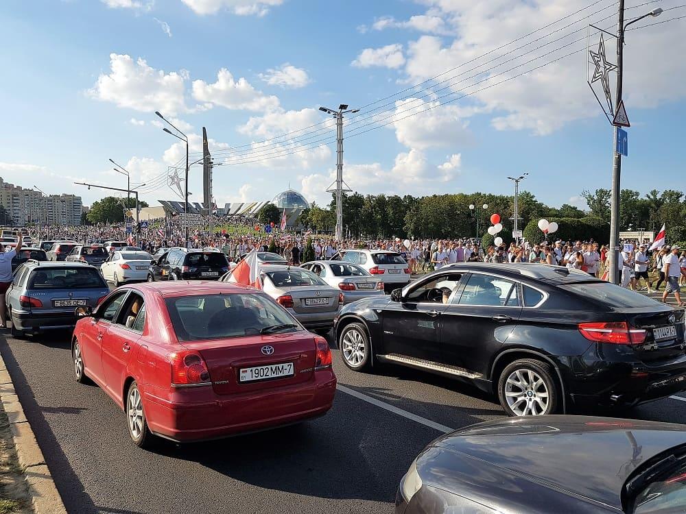 Марш Мира в Минске и встреча Лукашенко А.Г. с коллективом МЗКТ