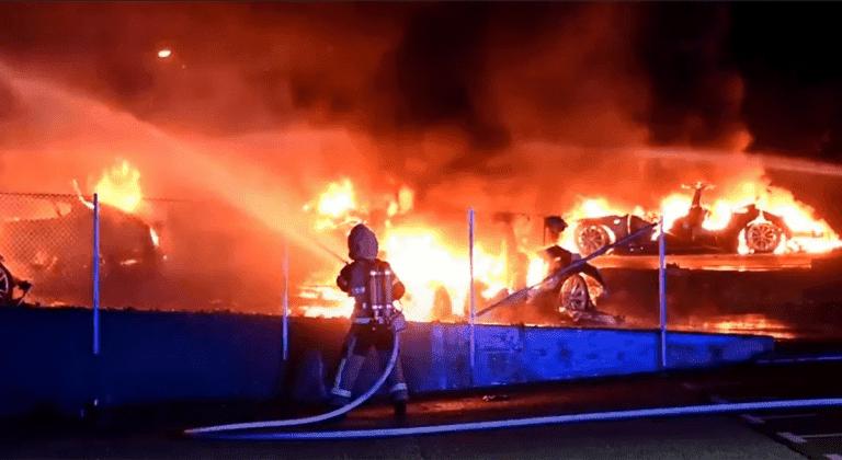 пожар в Tesla