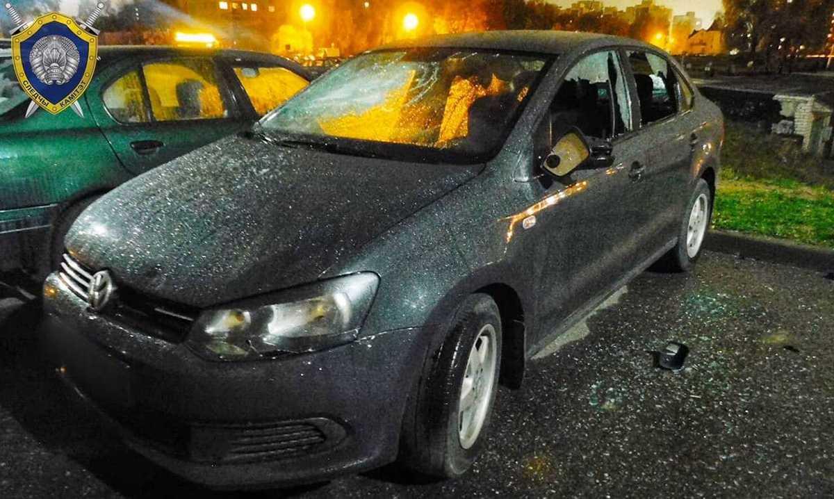 повреждение милицейских авто