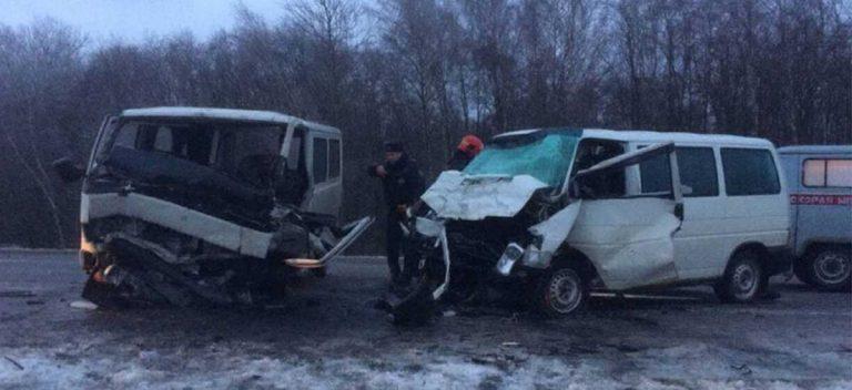 лобовое столкновение в Чериковском районе