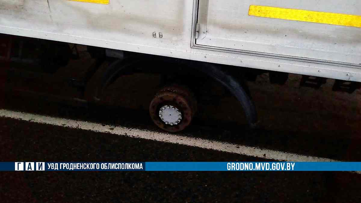 У МАЗ во время движения отвалилось колесо