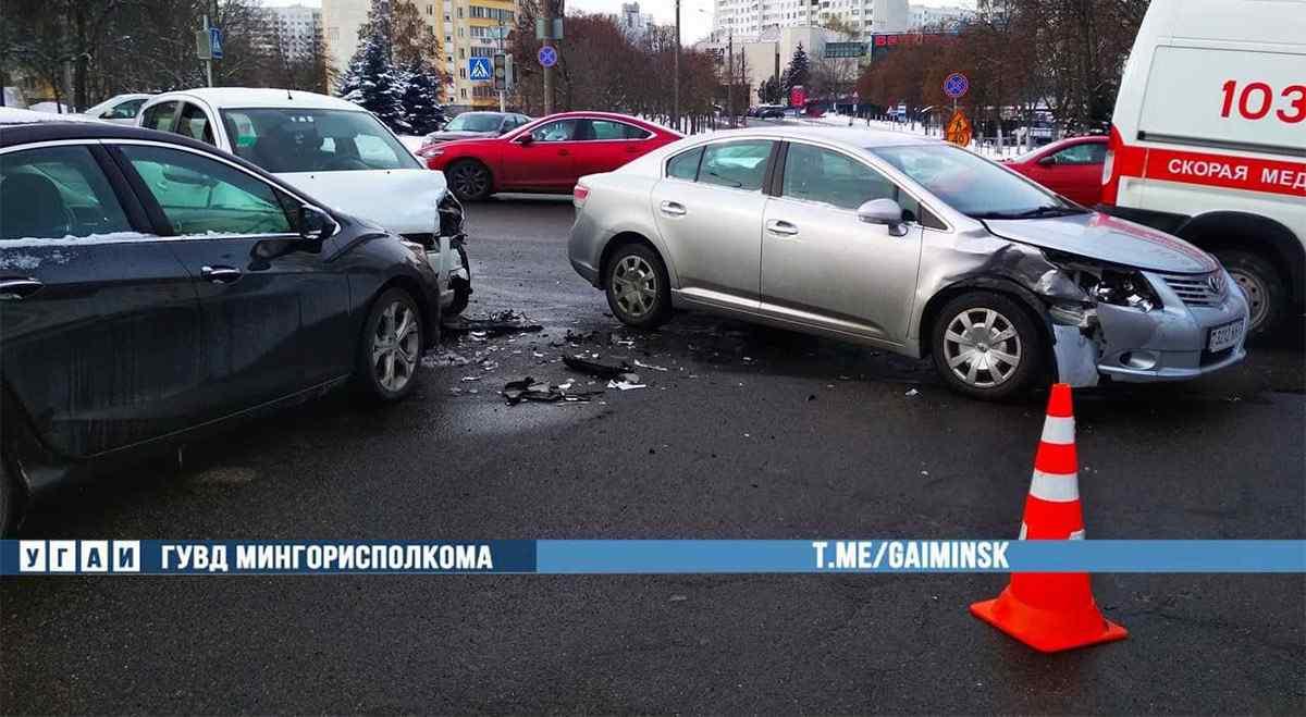 ДТП на перекрестке в Минске